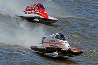 Steve Merleau (#66) & Bud Nollman (#6) SST-45 class.Bay City River Roar, Bay City,Michigan USA.26-2821 June, 2009..©F. Peirce Williams 2009 USA.F.Peirce Williams.photography.ref: RAW (.NEF) File Available