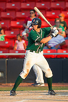 Kyle Skipworth #11 of the Greensboro Grasshoppers at bat against the Hickory Crawdads at  L.P. Frans Stadium July 10, 2010, in Hickory, North Carolina.  Photo by Brian Westerholt / Four Seam Images
