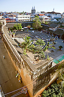 Stone Town, Zanzibar, Tanzania.  Old Arab Fort, Interior Courtyard.  Seating has been added for theater and musical performances.