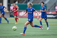 Seattle, WA - Saturday Aug. 27, 2016: Beverly Yanez during a regular season National Women's Soccer League (NWSL) match between the Seattle Reign FC and the Portland Thorns FC at Memorial Stadium.