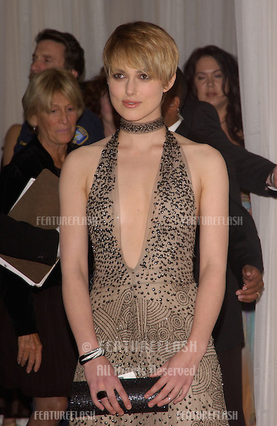 Actress KEIRA KNIGHTLY at the 8th Annual Hollywood Film Festival's Hollywood Awards at the Beverly Hills Hilton. She won the award for Hollywood Breakthrough Actress..October 18, 2004