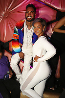 LOS ANGELES, CA - JUNE 26: Miguel and LisaRaye at the Mark Pitts & Bystorm Entertainment post 2016 BET Awards Celebration at Bootsy Bellows in Los Angeles, California on June 26, 2016. Credit: Walik Goshorn/MediaPunch
