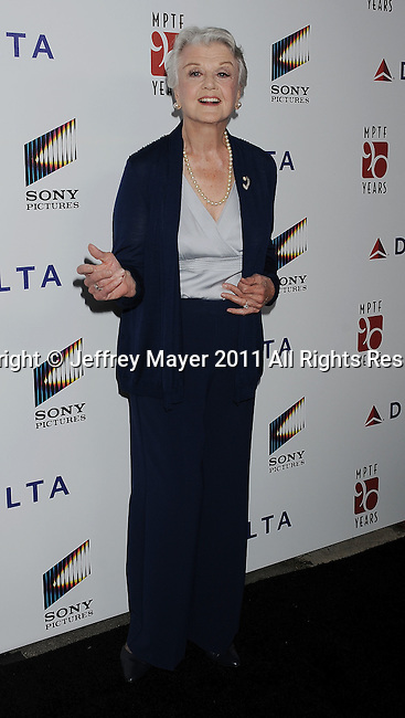 "CULVER CITY, CA - OCTOBER 15: Angela Lansbury attends the The 6th Annual ""A Fine Romance"" Event at Sony Pictures Studios on October 15, 2011 in Culver City, California."