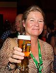 Engeland, London, 26 juli 2012.Olympische Spelen London.Opening Holland Heineken House.Charlene de Carvalho-Heineken met een Heineken Biertje