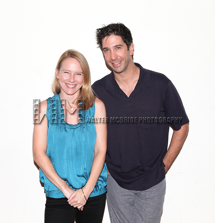Amy Ryan & David Schwimmer .attending the first day of rehearsals for the Playwrights Horizon Production of 'Detroit' at their rehearsal studios in New York on 7/27/12