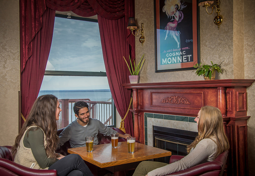 The North Star Lounge at the Landmark Inn in Marquette, Michigan.