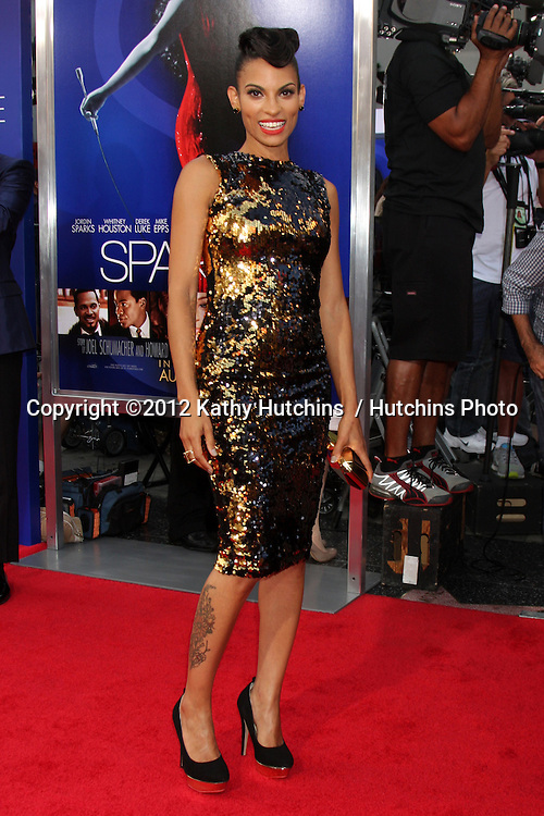 "Los Angeles - AUG 16:  Goapele arrives at the ""Sparkle""  Premiere at Graumans Chinese Theater on August 16, 2012 in Los Angeles, CA"