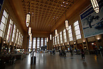 AMTRAK station hall in Philadelphia..Philadelphia, Pennsylvania, PA USA.  Photo copyright Lee Foster, 510-549-2202, lee@fostertravel.com, www.fostertravel.com. Photo 353-30733