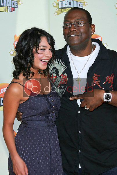 Vanessa Anne Hudgens and Randy Jackson<br />