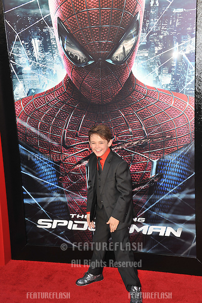 "Max Charles at the world premiere of his movie ""The Amazing Spider-Man"" at Regency Village Theatre, Westwood..June 29, 2012  Los Angeles, CA.Picture: Paul Smith / Featureflash"