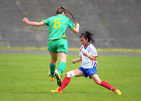 Action from the National Women's League football match between Central and Auckland at the Memorial Park in Palmerston North, New Zealand on Sunday, 5 November 2017. Photo: Dave Lintott / lintottphoto.co.nz