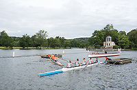 Henley on Thames, United Kingdom. 2016 Henley Masters' Regatta. Henley Reach. England. on Saturday  09/07/2016   [Mandatory Credit/ Peter SPURRIER/Intersport Images]<br /> <br /> &quot; A littlr Tangle&quot;. Rowing, Henley Reach, Henley Masters' Regatta.<br /> <br /> General View,  Henley Reach, venue, for the 2016 Henley Masters Regatta.