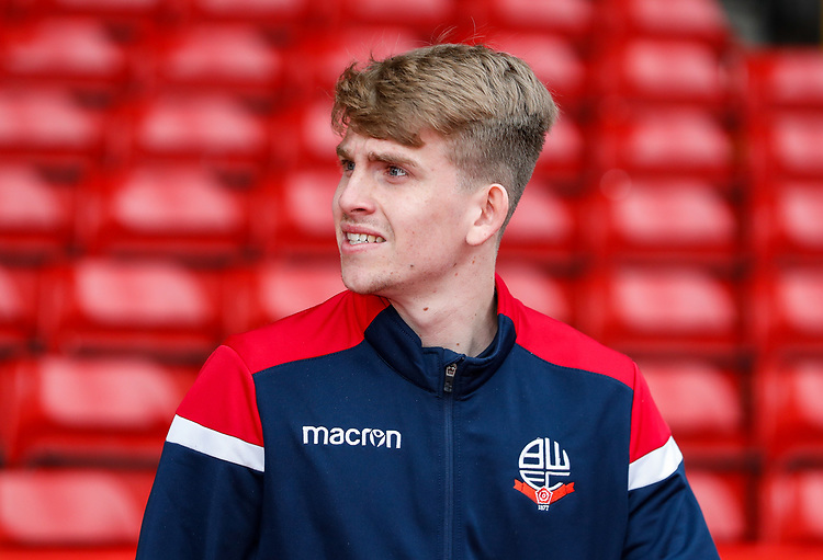 Bolton Wanderers' Harry Brockbank pictured before the match<br /> <br /> Photographer Andrew Kearns/CameraSport<br /> <br /> The EFL Sky Bet Championship - Nottingham Forest v Bolton Wanderers - Sunday 5th May 2019 - The City Ground - Nottingham<br /> <br /> World Copyright © 2019 CameraSport. All rights reserved. 43 Linden Ave. Countesthorpe. Leicester. England. LE8 5PG - Tel: +44 (0) 116 277 4147 - admin@camerasport.com - www.camerasport.com