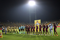 BOGOTÁ - COLOMBIA, 04-02-2019:Formación del Deportes Tolima ante el Rionegro en el estadio Metroplitano de Techo en sus partidos nocturnos mientras  arreglan la iluminacion en el estadio Manuel Murillo Toro de Ibagué. Acción de juego entre los equipos Deportes Tolima y Rionegro durante partido por la fecha 3 de la Liga Águila I 2019 jugado en el estadio Metropolitano de Techo de la ciudad de Bogotá. /Sports Training Tolima before the Rionegro in the Metropolitan Stadium of Techo in their night games while they fix the lighting in the Manuel Murillo Toro stadium in Ibagué.Action game between Deportes Tolima and  Rionegro during the match for the date 3 of the Liga Aguila I 2019 played at the Metroplitano de Techo  stadium in Bogota city. Photo: VizzorImage / Felipe Caicedo / Staff.