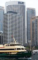 "14 SEP 2009 - SYDNEY, AUS - The ferry ""Collaroy"" leaves its berth at Circular Quay (PHOTO (C) NIGEL FARROW)"