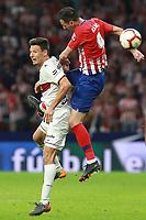 Atletico de Madrid vs Huesca Spanish league football match at Wanda Metropolitano in Madrid on September 25, 2018.<br /> Kalinic