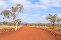 Outback road. Pilbara Region of Western Australia.