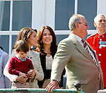 16-04-2014 Balcony 74th birthday of the Danish Queen at Marselisborg Castle in Aarhus.<br /> Marie and Princess Marie and Prince Henrik <br /> <br /> <br /> <br /> Credit: PPE/face to face<br /> - No Rights for Netherlands -