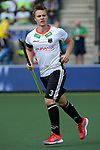 NED - Amsterdam, Netherlands, August 20: During the men Pool B group match between Germany (white) and Ireland (green) at the Rabo EuroHockey Championships 2017 August 20, 2017 at Wagener Stadium in Amsterdam, Netherlands. Final score 1-1. (Photo by Dirk Markgraf / www.265-images.com) *** Local caption *** Mats Grambusch #3 of Germany