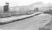 Durango yard with lots of cars (flats, dumps, tanks, boxes).<br /> D&amp;RGW  Durango, CO  Taken by Richardson, Robert W. - 6/6/1949