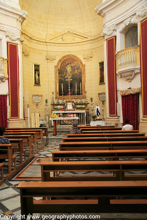Interior of Church of Saint Barbara, Valletta, Malta