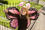 (Denver, Colo., October 15, 2004)  Halloween costumes.  Arne (cq, Arne) Kepler, 4 1/2, from Broomfield, is a butterfly.  Photographed in Denver.   (Photo by ELLEN JASKOL/ROCKY MOUNTAIN NEWS)