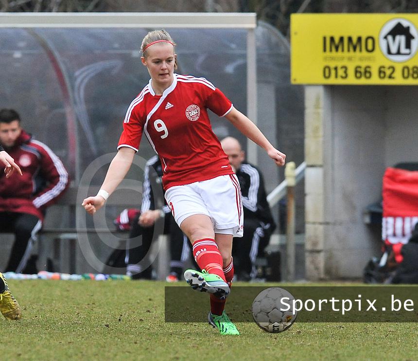 Denmark U17 - Belgium U17 : .Sarah Hansen.foto DAVID CATRY / Vrouwenteam.be