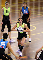 16.09.2016 Silver Ferns Grace Rasmussen in action during traning ahead of the last Taini Jamison netball match between the Silver Ferns and Jamaica to be played in Rotorua. Mandatory Photo Credit ©Michael Bradley.