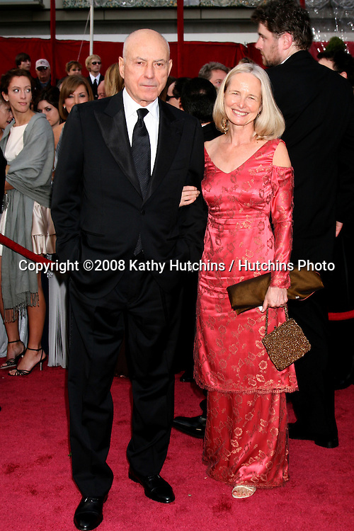 Alan Arkin & Wife.80th Academy Awards ( Oscars).Kodak Theater.Los Angeles, CA.February 24, 2008.©2008 Kathy Hutchins / Hutchins Photo.