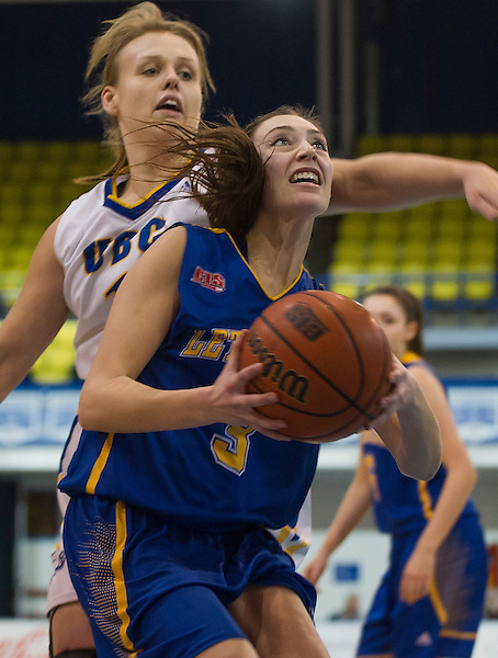 VANCOUVER,BC:NOVEMBER 8, 2016 -- UBC Thunderbirds University of Lethbridge Pronghorns during CIS Canada West Women's Basketball action at UBC in Vancouver, BC, January, 8, 2016. (Rich Lam/UBC Athletics Photo) <br /> <br /> ***MANDATORY CREDIT***