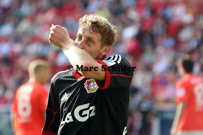 Torjubel Stefan Kießling (Bayer) beim 0:4 - 1. FSV Mainz 05 vs. Bayer 04 Leverkusen, Coface Arena, 6. Spieltag