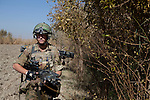Mcc0027461 . Daily Telegraph..L Cpl Aidan Cleverly..Paratroopers from 5 platoon, B coy 3 Para on patrol out of PB Washiran in northern Nad e Ali....Helmand 26 November 2010