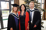 21/11/2014  Attending the Irish College of Humanities and Applied Science Conferrings in The Castletroy Park Hotel were Marie Tuohey, Newport, who was conferred with a B.A Hons in Counselling and Psychotherapy, Maria Carmody, Corporate Affairs, Irish College of Humanities and Applied Science and Ian Molloy, Lucan, Co. Dublin, who was conferred with  M.A in Counselling and Psychotherapy.<br /> Picture: Gareth Williams