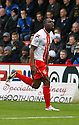 Francis Zoko of Stevenage scores the opening goal and celebrates<br />  - Stevenage v Portsmouth - FA Cup 1st Round  - Lamex Stadium, Stevenage - 9th November, 2013<br />  © Kevin Coleman 2013