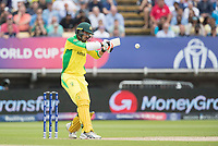 Mitchell Starc (Australia) prepares to pull a short delivery during Australia vs England, ICC World Cup Semi-Final Cricket at Edgbaston Stadium on 11th July 2019