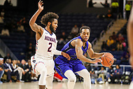 Washington, DC - December 22, 2018: Howard Bison guard RJ Cole (2) defends Hampton Pirates guard Kalin Fisher (23) during the DC Hoops Fest between Hampton and Howard at  Entertainment and Sports Arena in Washington, DC.   (Photo by Elliott Brown/Media Images International)