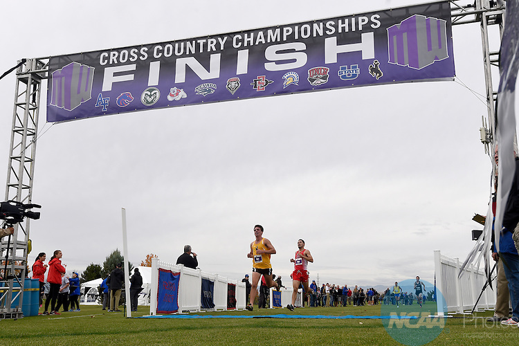 28 OCT 2016: The 2016 Mountain West Men's Cross Country Championship takes place at Falcon Crest Golf Club in Kuna, ID. Justin Tafoya/NCAA Photos