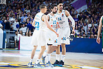 Real Madrid Jaycee Carroll, Sergio Llull and Gustavo Ayon during Turkish Airlines Euroleague Quarter Finals 4th match between Real Madrid and Panathinaikos at Wizink Center in Madrid, Spain. April 27, 2018. (ALTERPHOTOS/Borja B.Hojas)
