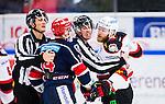 S&ouml;dert&auml;lje 2014-10-23 Ishockey Hockeyallsvenskan S&ouml;dert&auml;lje SK - Malm&ouml; Redhawks :  <br /> Br&aring;k i matchen mellan S&ouml;dert&auml;ljes Robert Carlsson och Malm&ouml; Redhawks David Liffiton <br /> (Foto: Kenta J&ouml;nsson) Nyckelord: Axa Sports Center Hockey Ishockey S&ouml;dert&auml;lje SK SSK Malm&ouml; Redhawks slagsm&aring;l br&aring;k fight fajt gruff