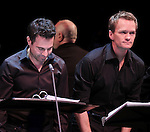 Mario Cantone & Neil Patrick Harris  during the Roundabout Theatre Company's One Night Only Benefit of 'Assassins' at Studio 54 in New York City. December 3, 2012.