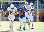 BROOKINGS, SD - NOVEMBER 12:  Brady Mengerelli #44 from South Dakota State University breaks loose past Alex Gray #22 from the University of South Dakota in the first half at the Dana J. Dykhouse Stadium November 12, 2016 in Brookings, South Dakota. (Photo by Dave Eggen/Inertia)