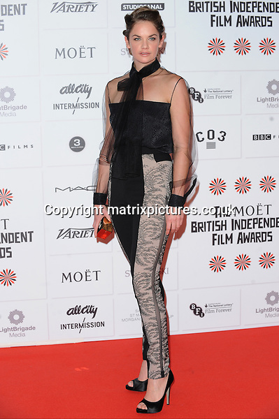 NON EXCLUSIVE PICTURE: PAUL TREADWAY / MATRIXPICTURES.CO.UK.PLEASE CREDIT ALL USES..WORLD RIGHTS..English actress Ruth Wilson attending the 15th Moet British Independent Film Awards, at London's Old Billingsgate Market...DECEMBER 9th 2012..REF: PTY 125840