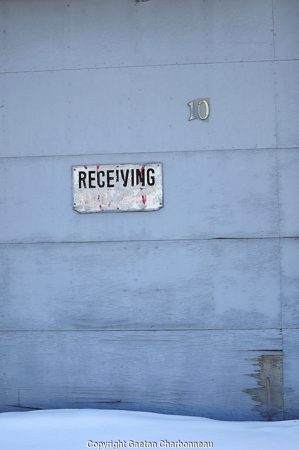 Door with the word receiving