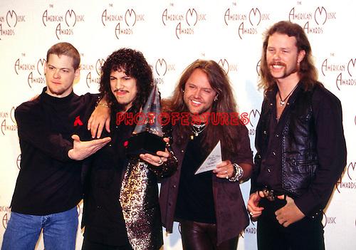 Metallica 1993 American Music Awards Jason Newsted, Kirk Hammett, Lars Ulrich, James Hetfield