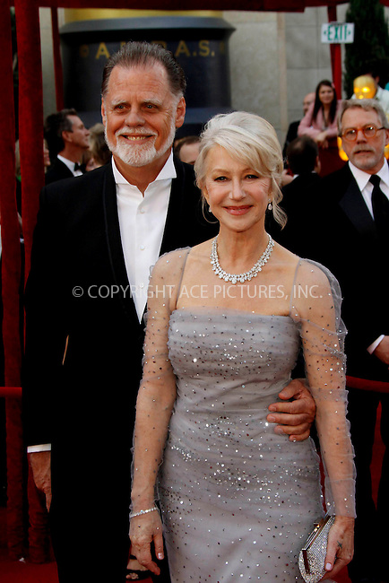 WWW.ACEPIXS.COM . . . . .  ....March 7 2010, Hollywood, CA....Director Taylor Hackford and wife Helen Mirren at the 82nd Annual Academy Awards held at Kodak Theatre on March 7, 2010 in Hollywood, California.....Please byline: Z10-ACE PICTURES... . . . .  ....Ace Pictures, Inc:  ..Tel: (212) 243-8787..e-mail: info@acepixs.com..web: http://www.acepixs.com