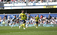 Blackburn Rovers' Danny Graham scores his side's first goal from the penalty spot<br /> <br /> Photographer Rob Newell/CameraSport<br /> <br /> The EFL Sky Bet Championship - Queens Park Rangers v Blackburn Rovers - Friday 19th April 2019 - Loftus Road - London<br /> <br /> World Copyright © 2019 CameraSport. All rights reserved. 43 Linden Ave. Countesthorpe. Leicester. England. LE8 5PG - Tel: +44 (0) 116 277 4147 - admin@camerasport.com - www.camerasport.com