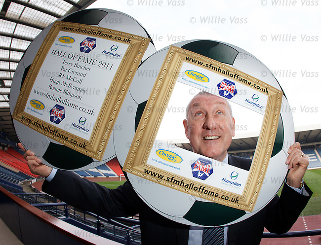 Terry Butcher at Hampden today after he was inducted into the Scottish Football Hall of Fame