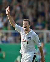 FUSSBALL   DFB POKAL   SAISON 2012/2013   19.08.2012 Preussen Muenster - Werder Bremen              JUBEL Preussen Muenster; Torschuetze Matthew Taylor nach seinem Tor zum 4-2 n.V.