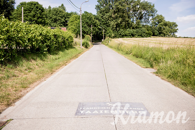 """the Strava section start line up the Taaienberg (which translates as """"Tough Hill"""" btw…) in Maarkedal<br /> <br /> cycling hotspots & impressions in the Vlaamse Ardennen (Flemish Ardennes) along the 181km Spartacus (Chasing Cancellara) cycling route<br /> <br /> Cycling In Flanders <br /> Flanders Tourist Board<br /> <br /> ©kramon"""