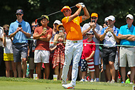 Bethesda, MD - July 2, 2017: Ricky Fowler tee shot during final round of professional play at the Quicken Loans National Tournament at TPC Potomac  in Bethesda, MD, July 2, 2017.  (Photo by Elliott Brown/Media Images International)